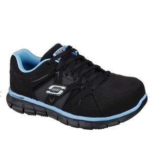 Sketchers Flex Sole Alloy Toe Work Shoes Size 7